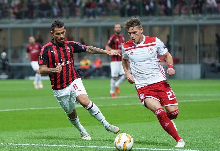 Suso_Koutris_Milan_Olympiacos_lapresse_2018