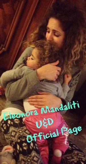 Eleonora Mandaliti con la figlia Penelope