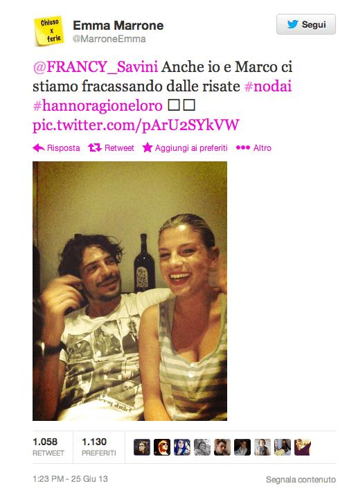 Emma Marrone e Marco Bocci