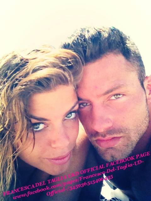 Eugenio Colombo e Francesca Del Taglia al mare