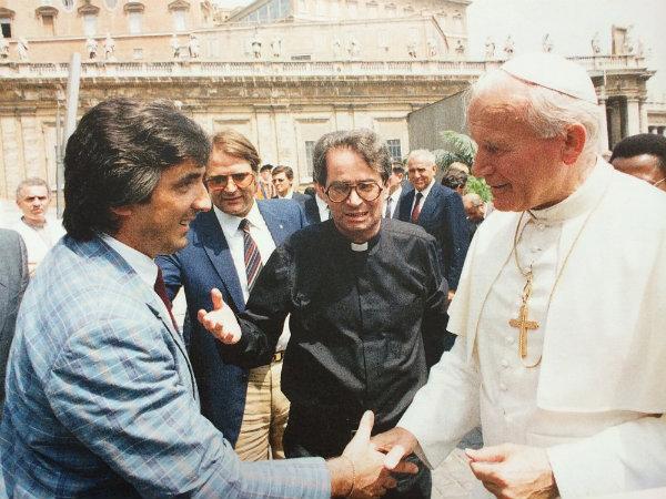 Ivano Fanini con Giovanni Paolo II