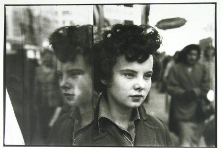 Saul Leiter, Untitled (girl and reflection), date unknown