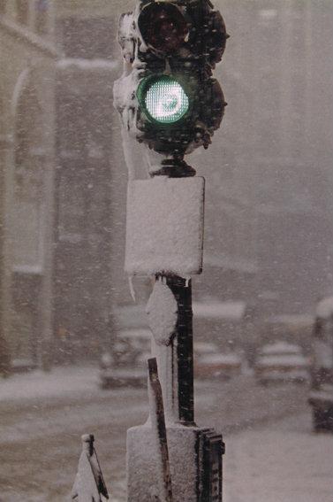 Saul Leiter, Green Light Against Grey, New York, c. 1950s