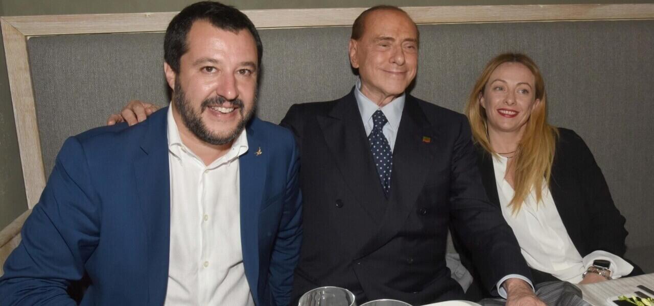 Centrodestra: Berlusconi, Salvini e Meloni