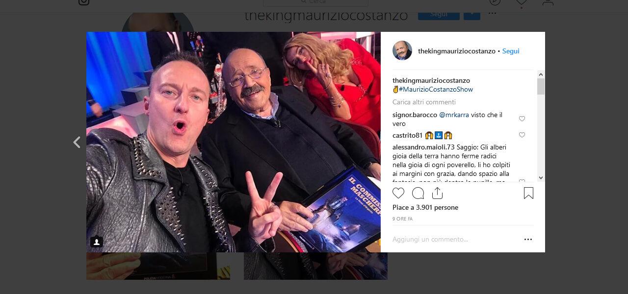 Francesco Facchinetti Apre Il Profilo Instagram Di Maurizio