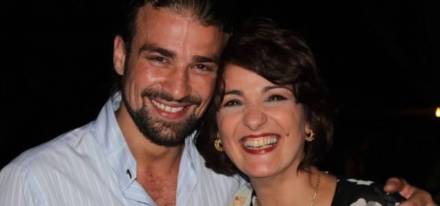 Mario Biondo e la madre Santina D'Alessandro