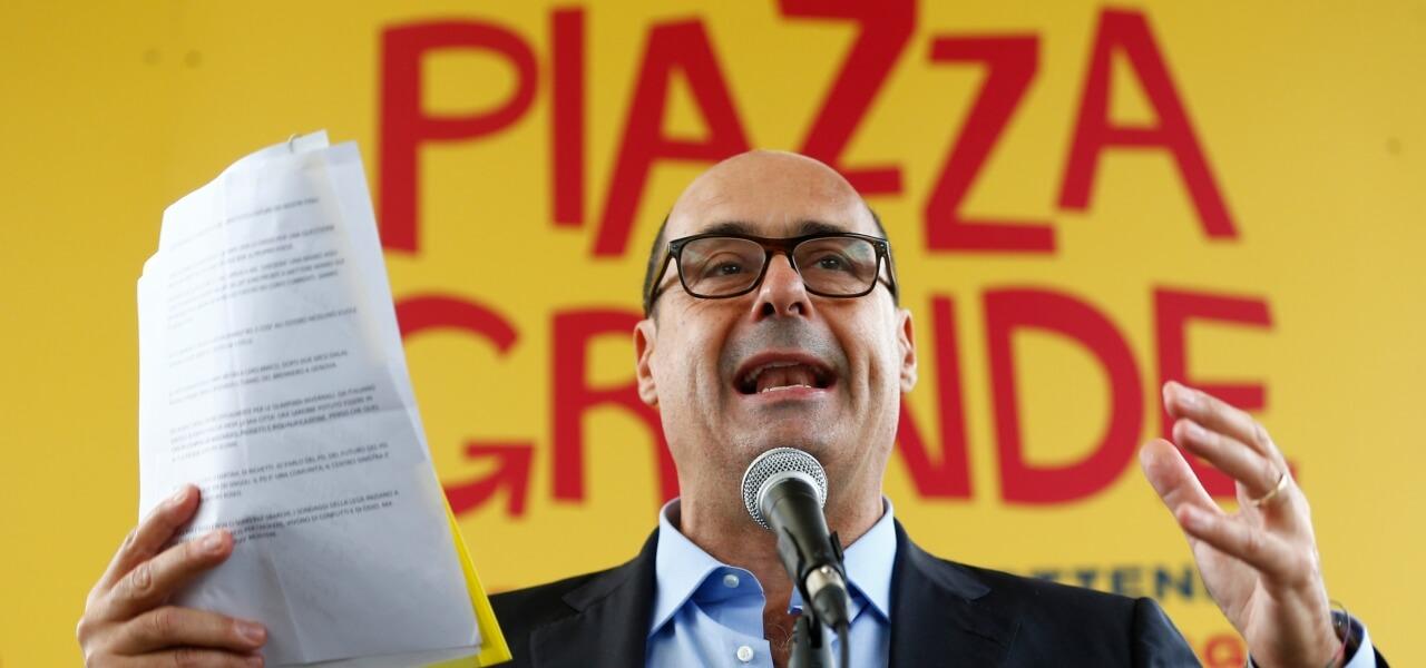 Nicola Zingaretti a Piazza Grande