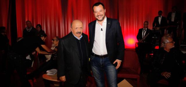 Maurizio Costanzo e Matteo Salvini