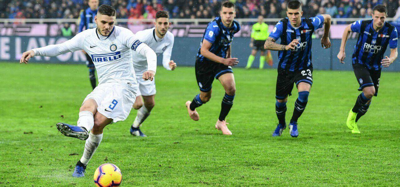 Icardi rigore Inter Atalanta lapresse 2018