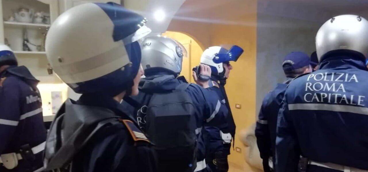 blitz casamonica polizia roma 2018 twitter