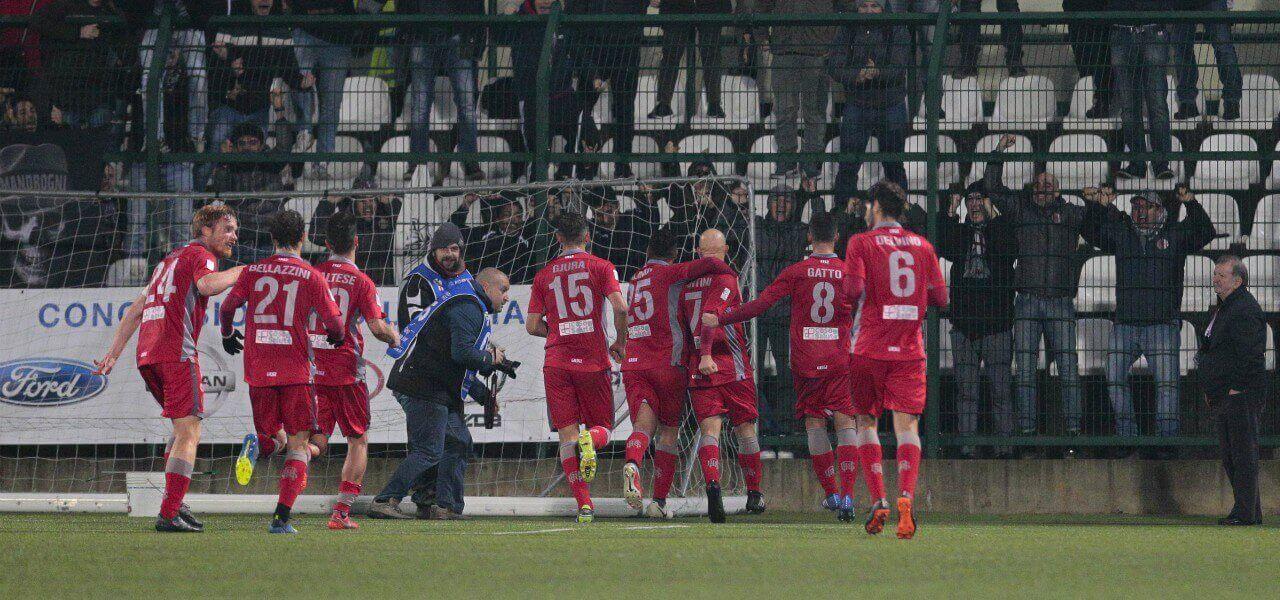 Alessandria rossa gol esultanza lapresse 2018