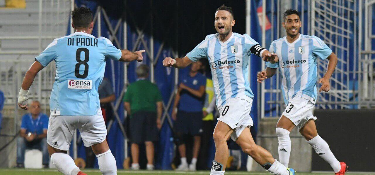 Nizzetto DiPaola Entella gol lapresse 2018