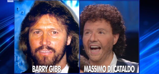 massimo di cataldo barry gibb tale e quale show 2018 screen 640x300