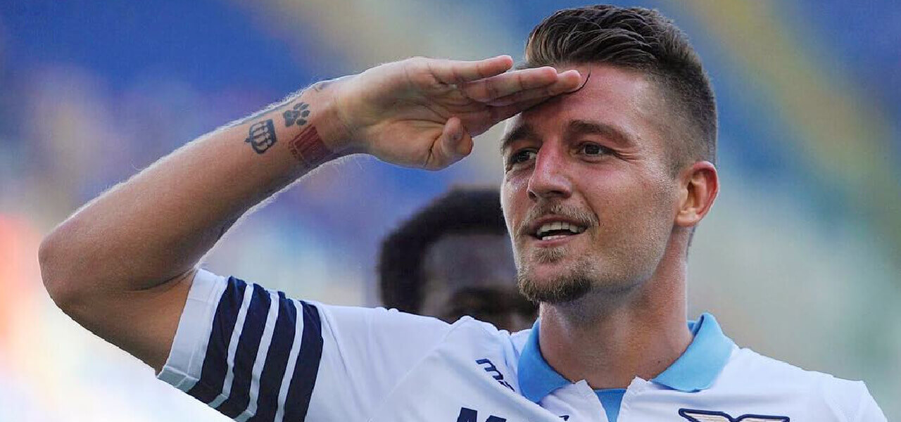 Milinkovic Savic, scatto su Instagram