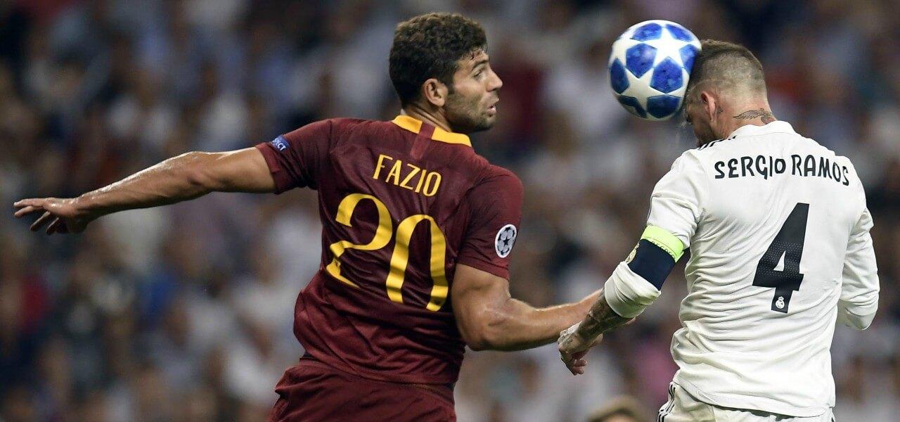 Fazio Sergio Ramos Roma Real lapresse 2018
