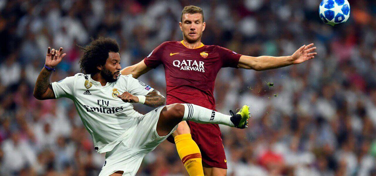 Marcelo Dzeko Real Roma lapresse 2018