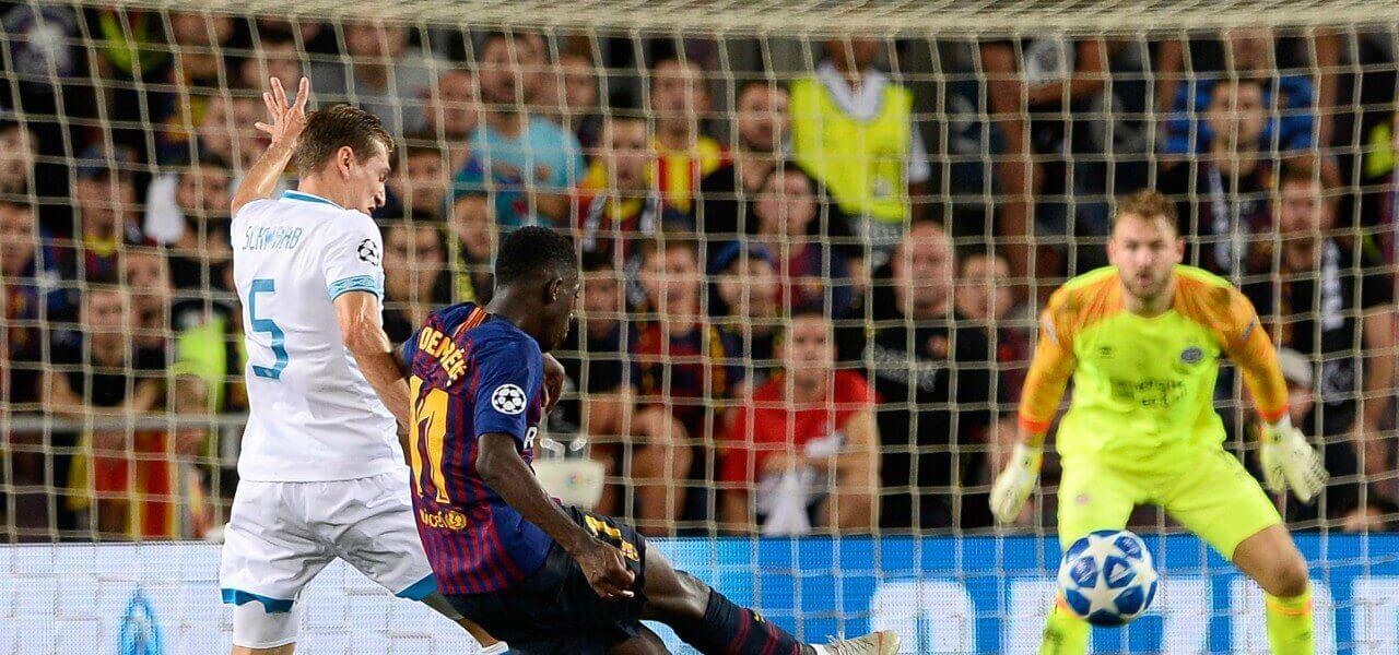Dembele gol Psv Barcellona lapresse 2018