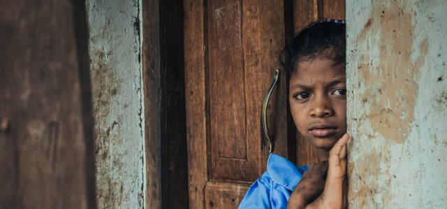 India, una bambina