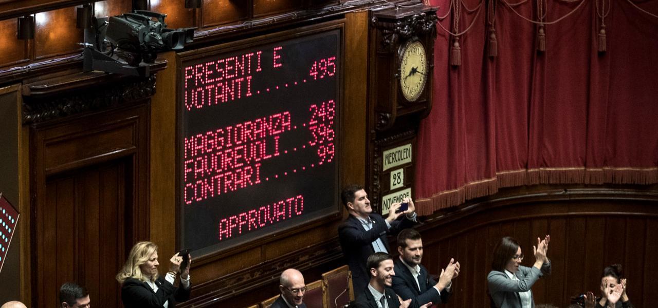 Voto sul Decreto Sicurezza