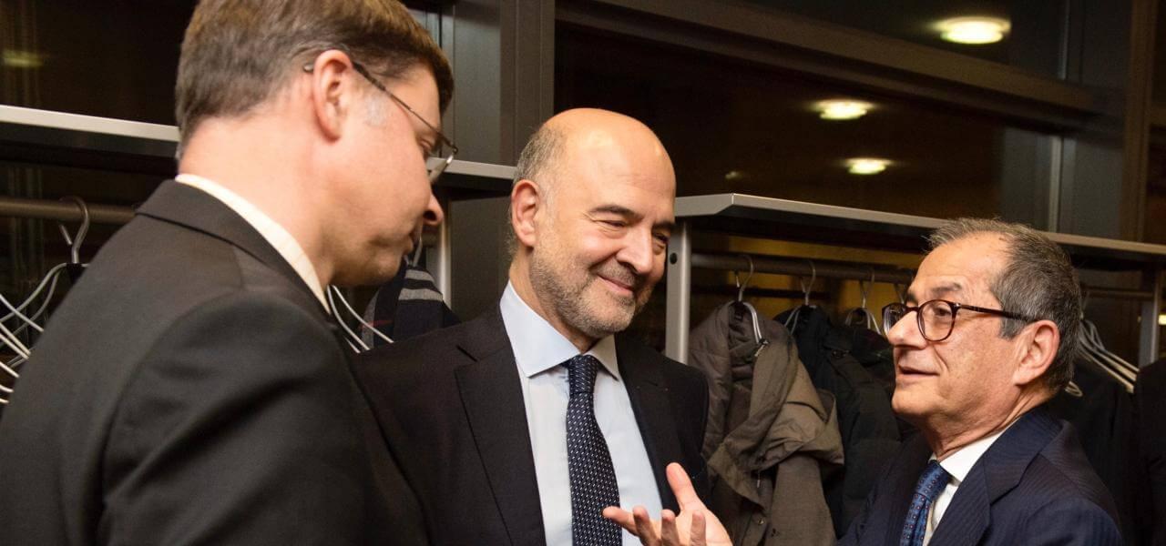 Dombrovskis, Moscovici e Tria