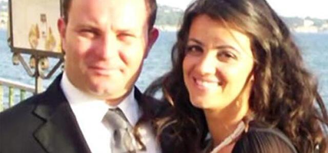 Eligia Ardita con il marito Christian Leonardi in un vecchio scatto