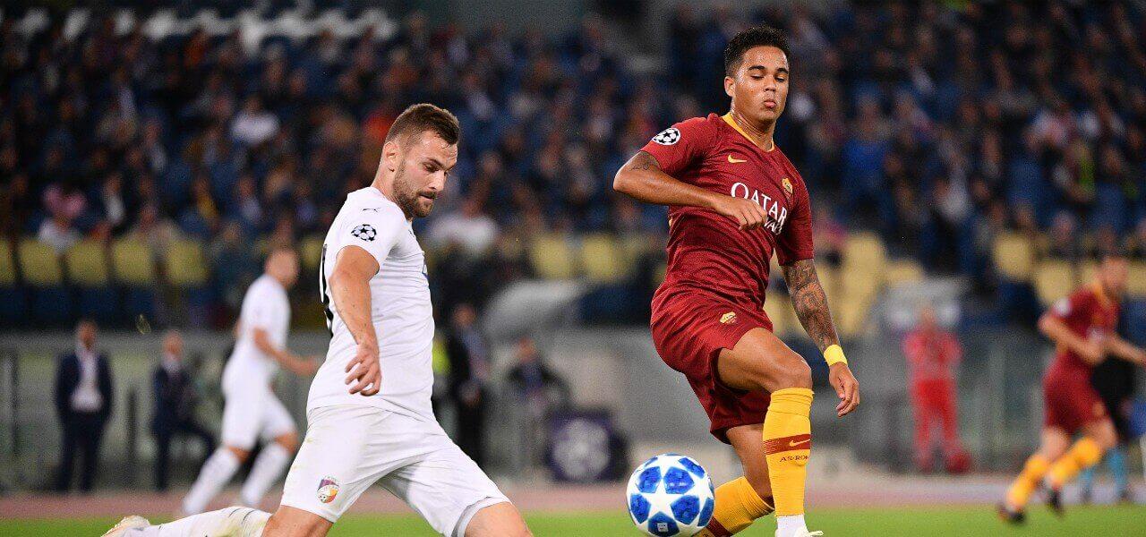Kluivert Roma Plzen lapresse 2018