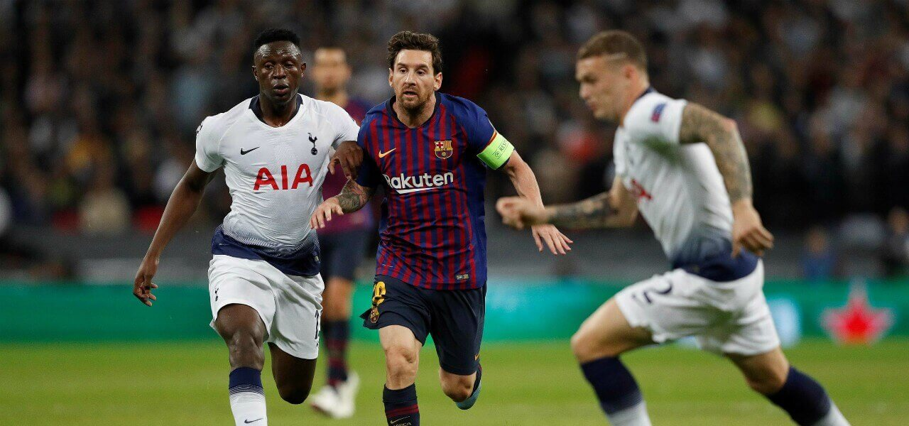Messi Wanyama Barcellona Tottenham lapresse 2018