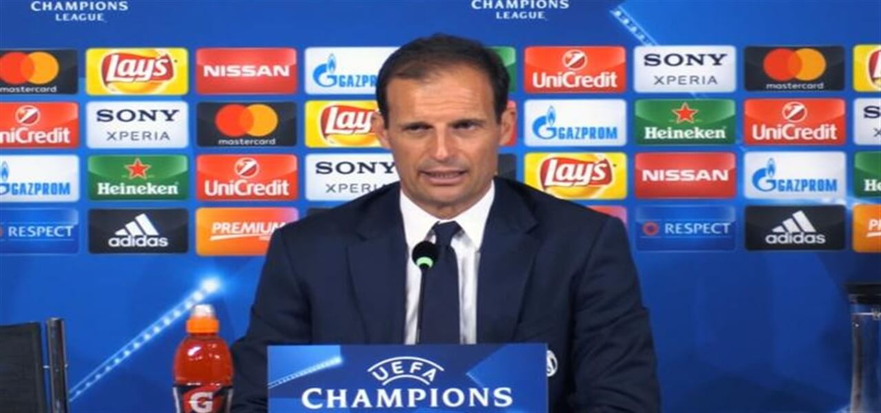 Juventus, Massimiliano Allegri in conferenza stampa