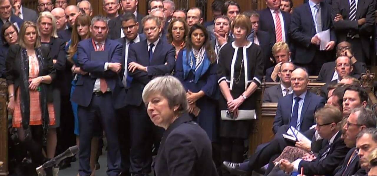 Theresa May in Parlamento