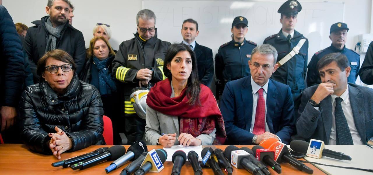Virginia Raggi e Ministro Costa