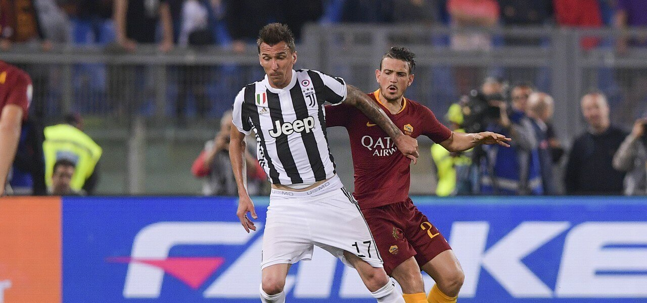 Mandzukic Florenzi Juventus Roma lapresse 2018