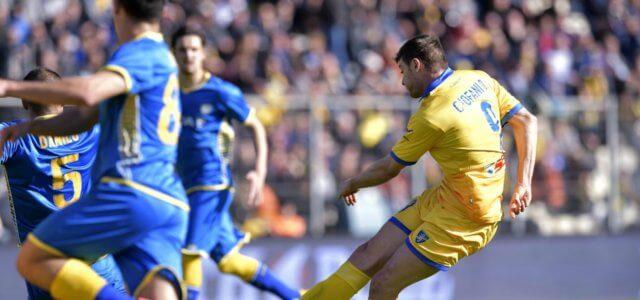 Daniel Ciofani tiro Frosinone Udinese lapresse 2018 640x300