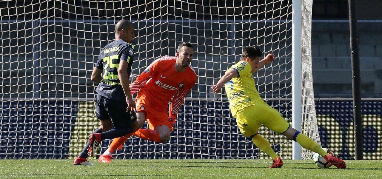 Stepinski Handanovic Miranda Chievo Inter lapresse 2018