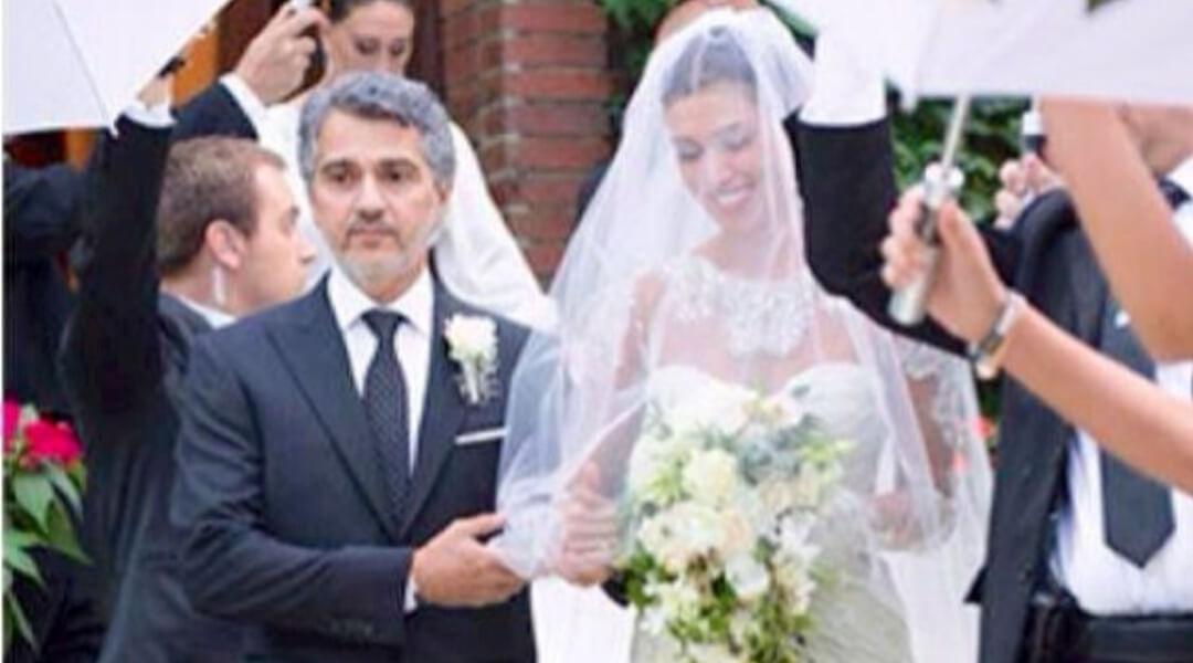Belen Rodriguez e il papà Gustavo