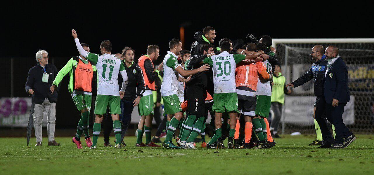 Arzachena gol mucchio lapresse 2018