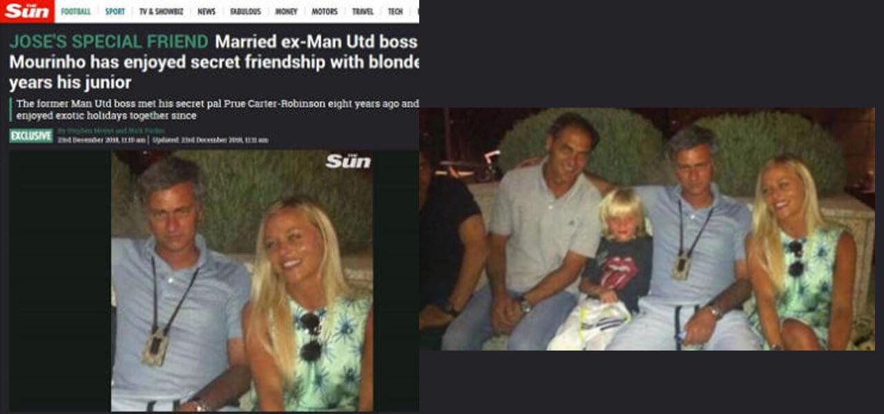 Mourinho e la presunta amante: fake news?