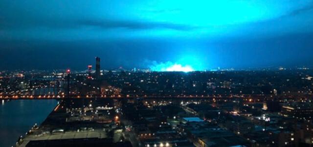 Il cielo azzurro di New York dopo l'esplosione