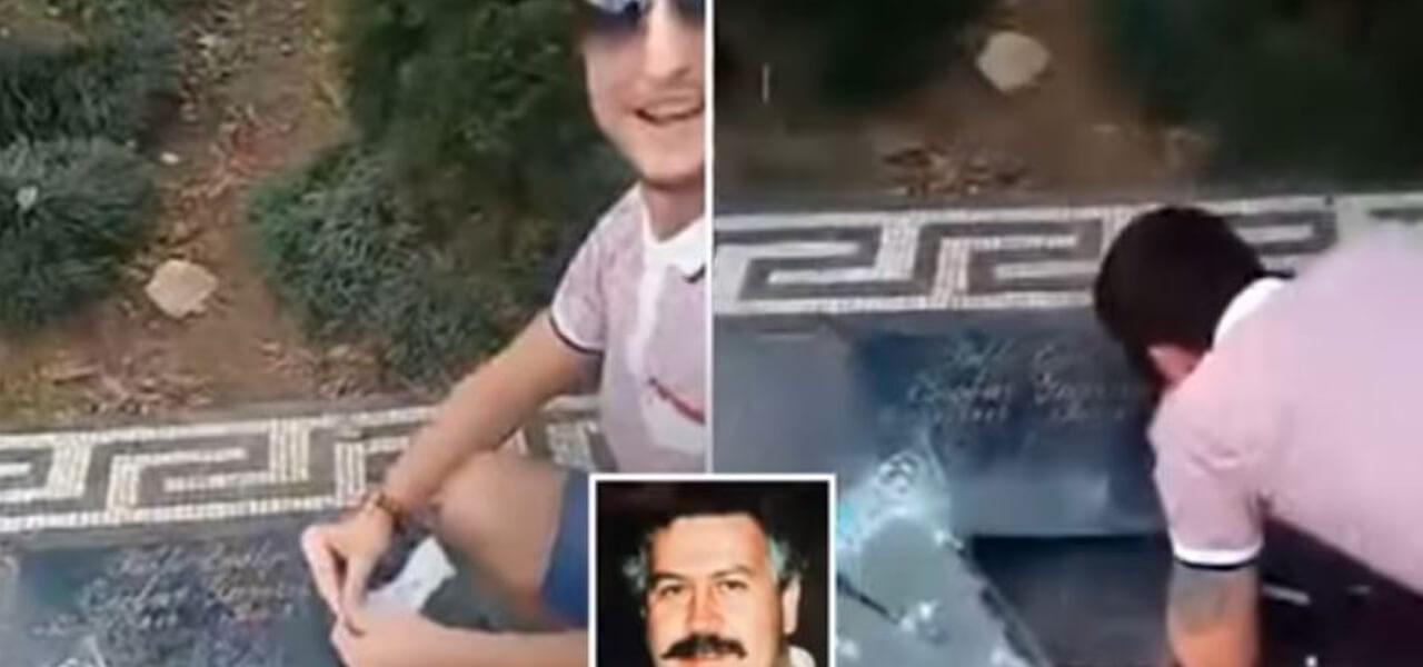 Sniffa cocaina su tomba di Pablo Esclobar