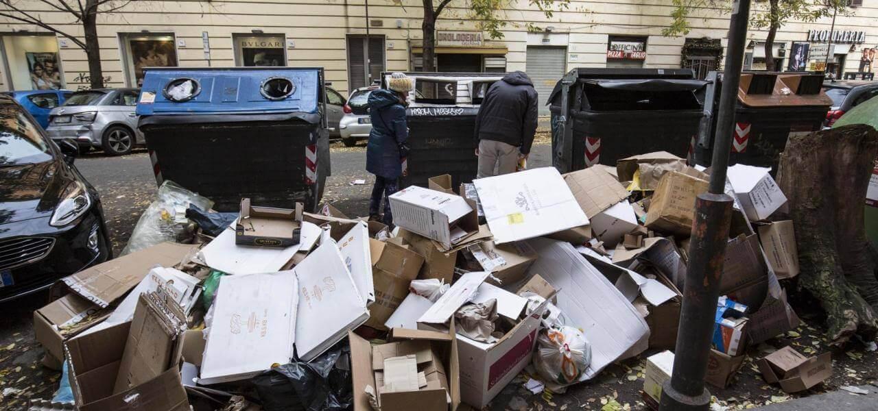 Caos rifiuti a Roma