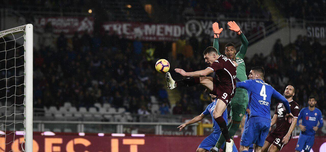 Belotti Lafont uscita Torino Fiorentina lapresse 2019