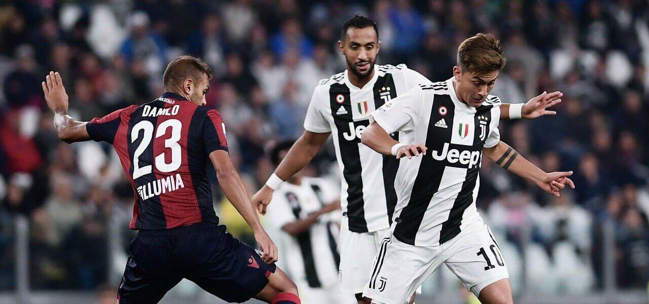 Dybala Danilo Juventus Bologna lapresse 2018