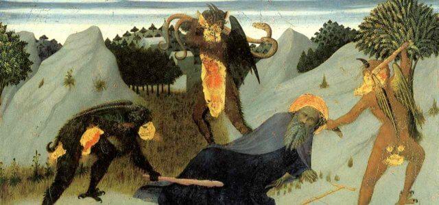 Sant'Antonio bastonato dai diavoli Siena