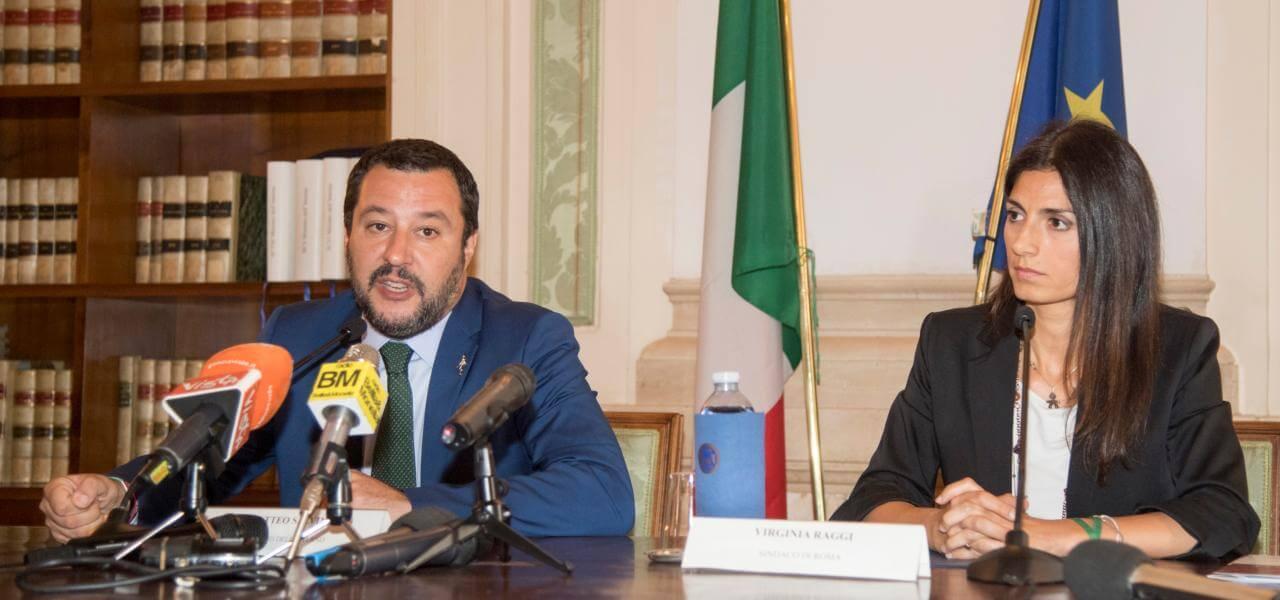 Salvini e Raggi a Roma