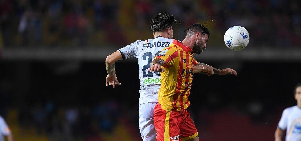 Fiamozzi Buonaiuto Benevento Lecce lapresse 2019