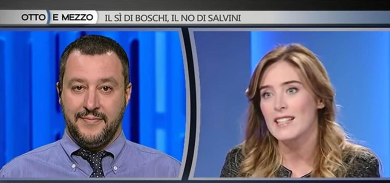 Matteo Salvini e Maria Elena Boschi