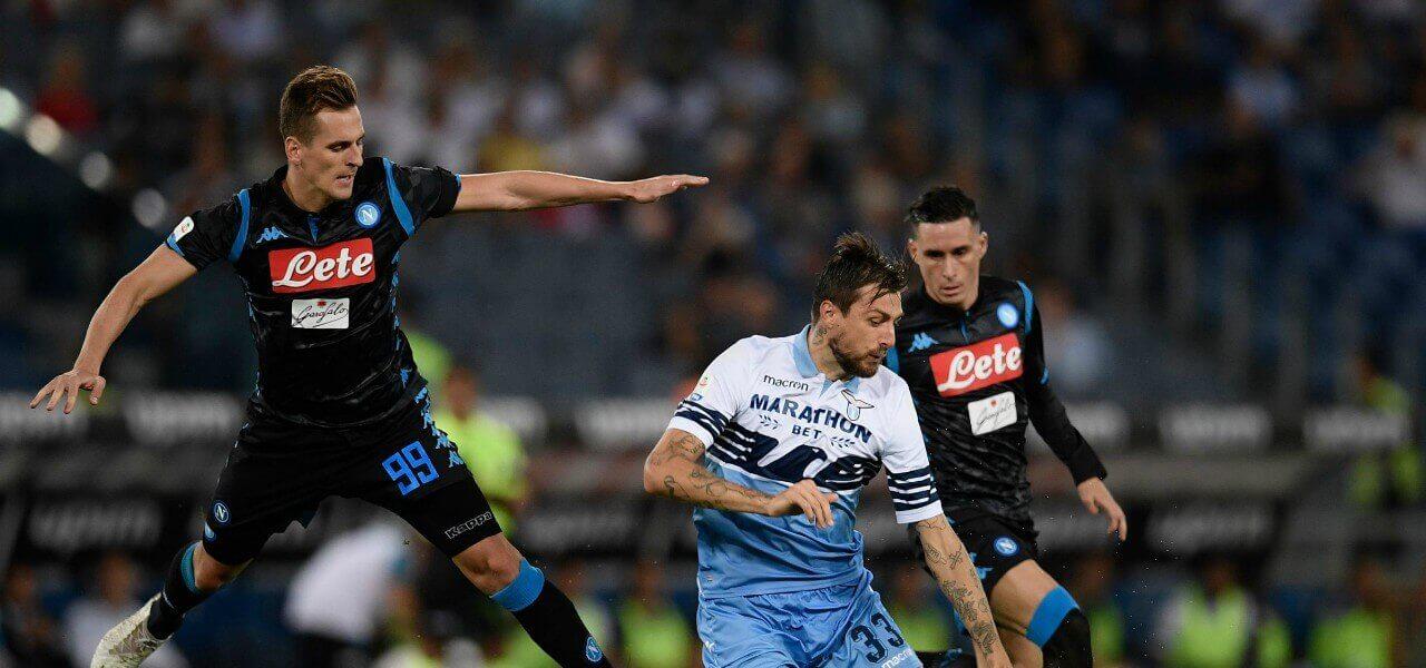 Milik Acerbi Callejon Napoli Lazio lapresse 2019