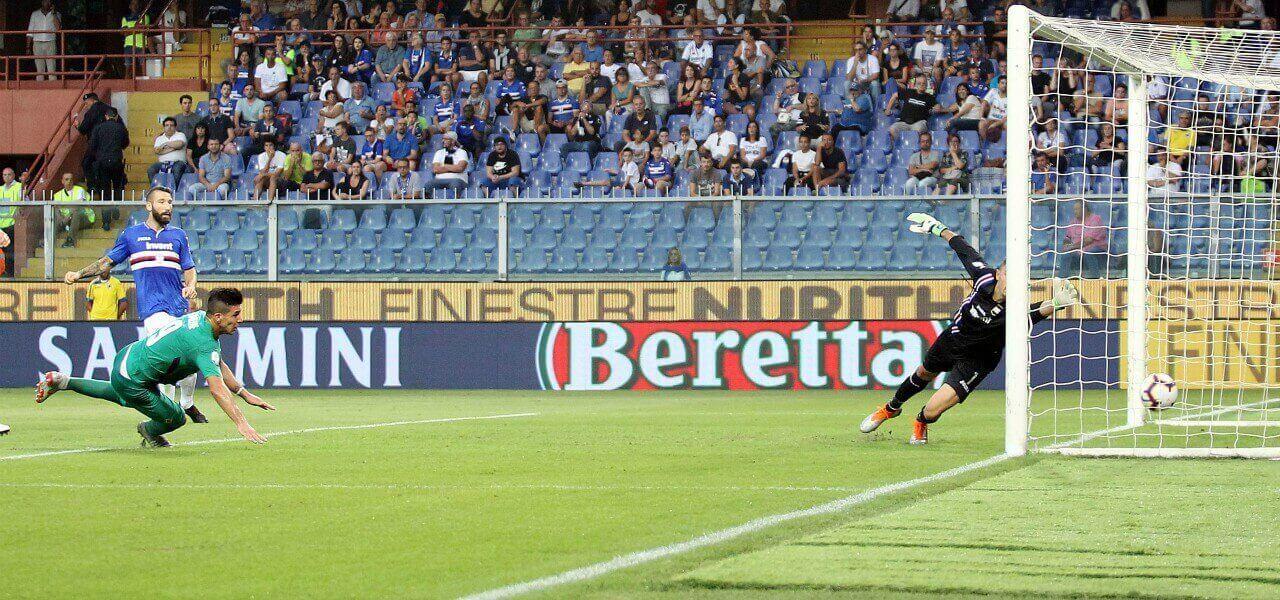 Simeone Tonelli Audero gol Fiorentina Sampdoria lapresse 2019