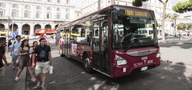 sciopero roma atac bus trasporti lapresse 2019 640x300