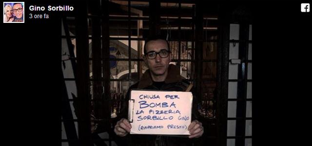 Gino Sorbillo, bomba contro la sua pizzeria