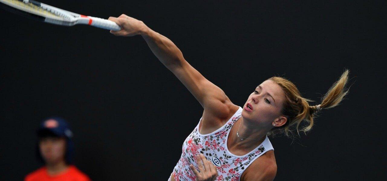 Camila Giorgi servizio Australian Open lapresse 2019